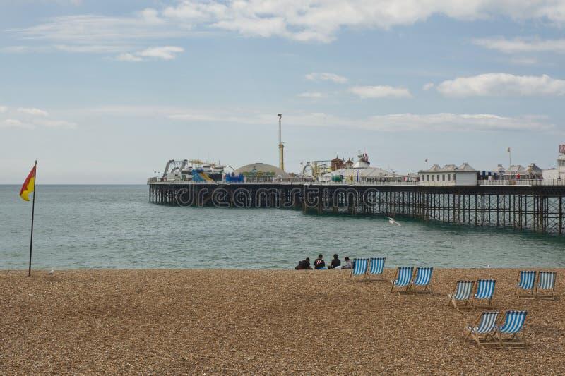 Brighton strand en pier, Engeland stock foto