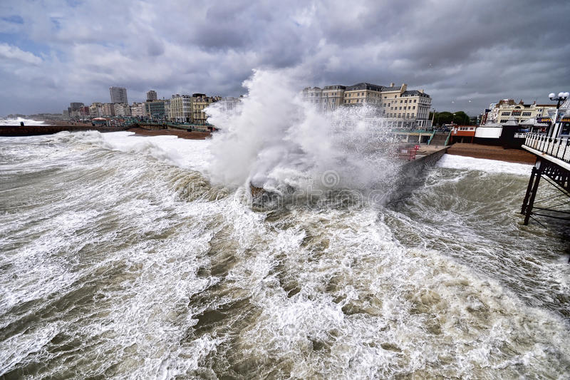 Brighton-Sturm lizenzfreies stockbild