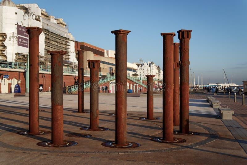 BRIGHTON, SUSSEX/UK EST - 26 JANVIER : Colonnes du derelic photo libre de droits
