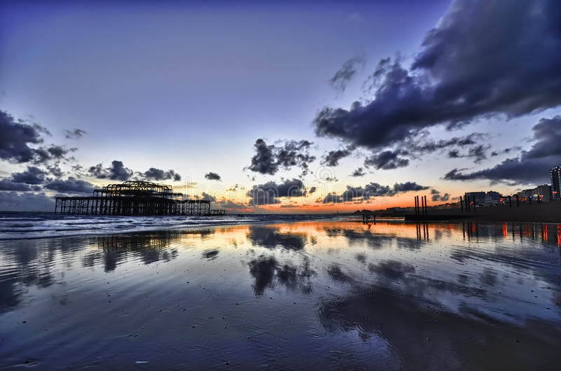 Brighton West Pier royalty-vrije stock afbeelding