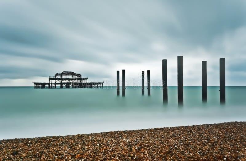 Brighton West Pier stock afbeelding