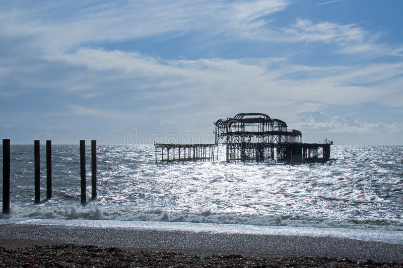 Brighton West Pier photographie stock libre de droits