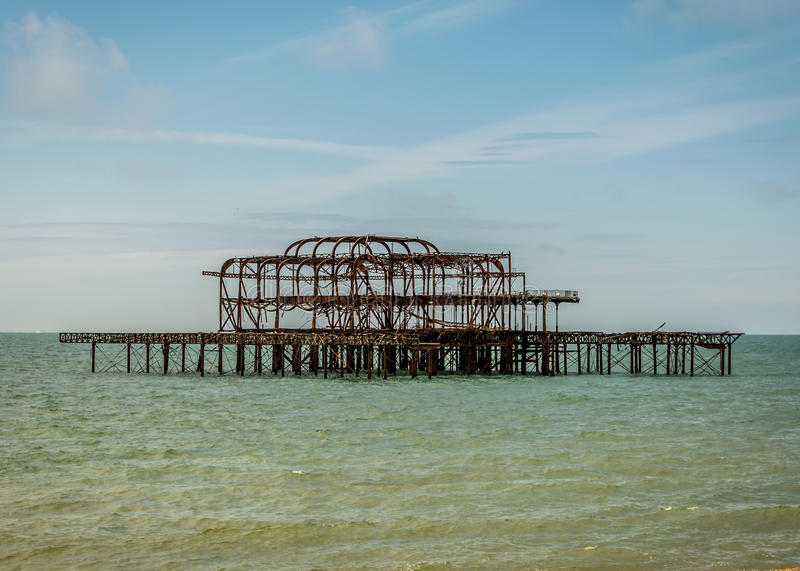 Brighton West Pier foto de stock