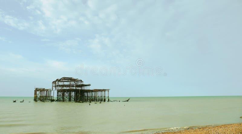 Brighton West Pier 2 lizenzfreie stockfotografie