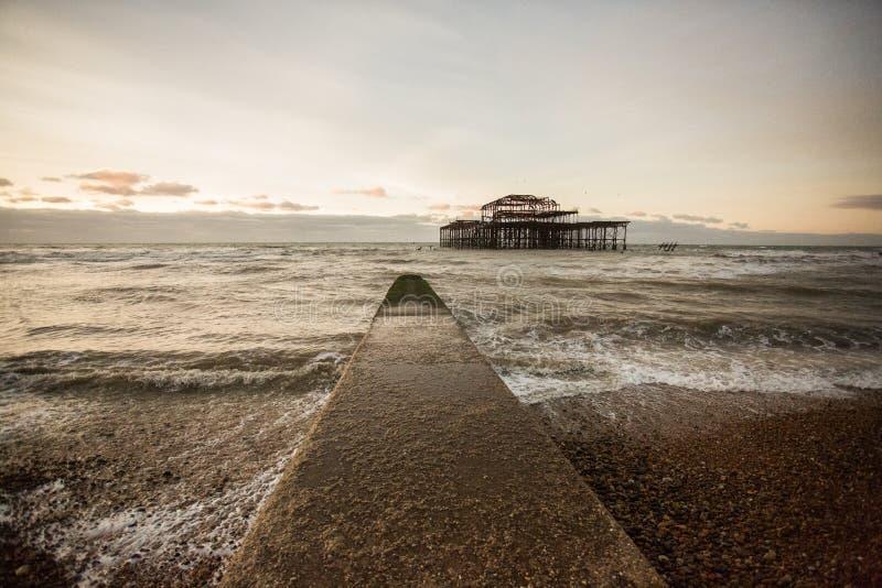 Brighton West Pier, het UK royalty-vrije stock foto