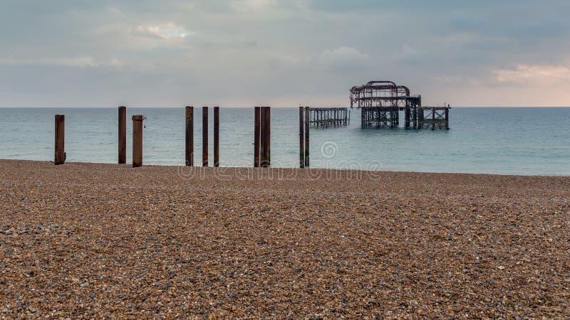 Brighton West Pier, Sussex orientale, Regno Unito immagini stock