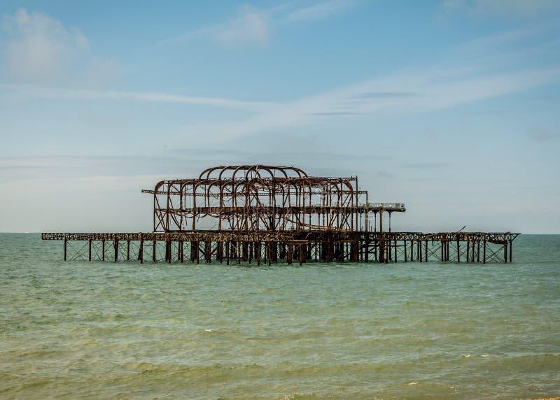 Brighton Zachodni molo zdjęcie stock