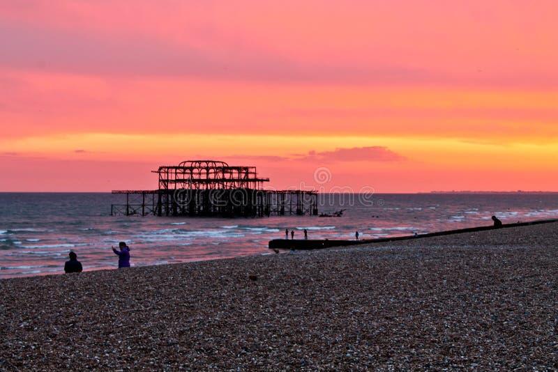 Brighton zmierzch zdjęcie stock