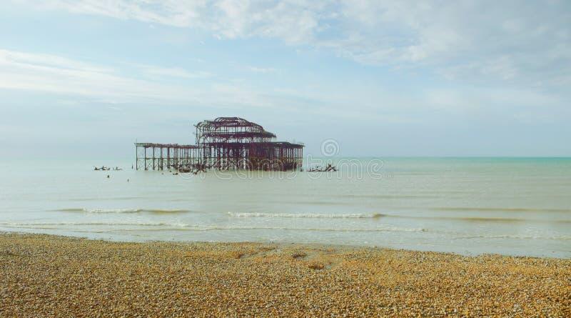 Brightons västra pir 1 royaltyfri foto