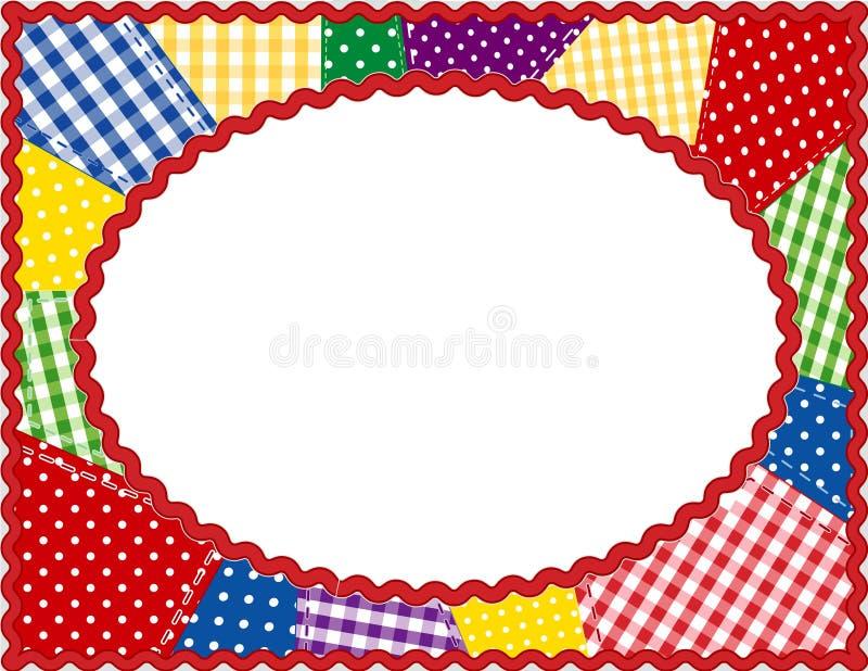 brights frame oval patchwork 库存例证