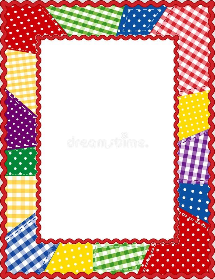 brights frame patchwork 向量例证
