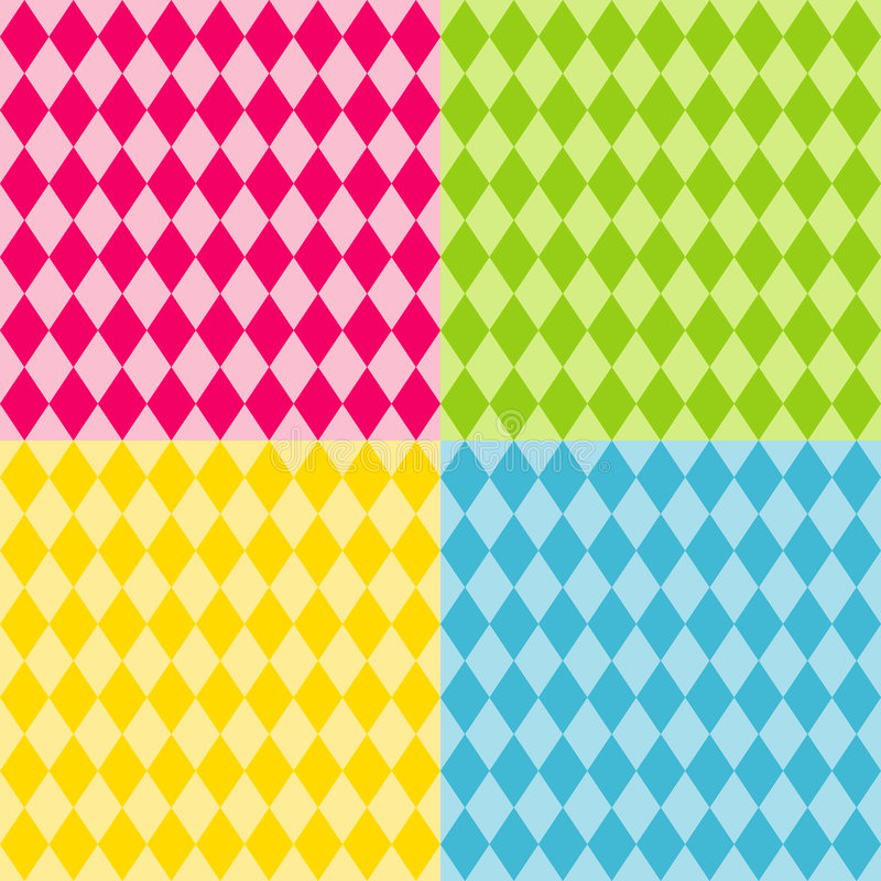 brights harlequin patterns seamless vektor illustrationer