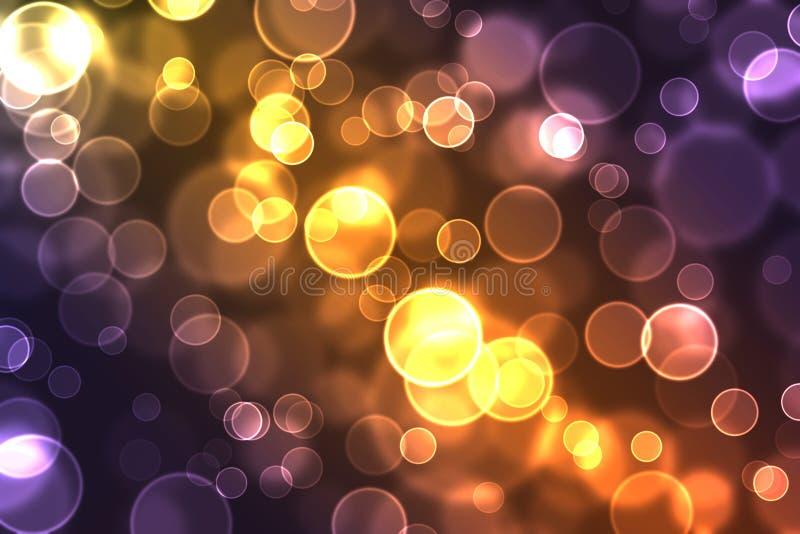 Brights ilumina o fundo ilustração stock