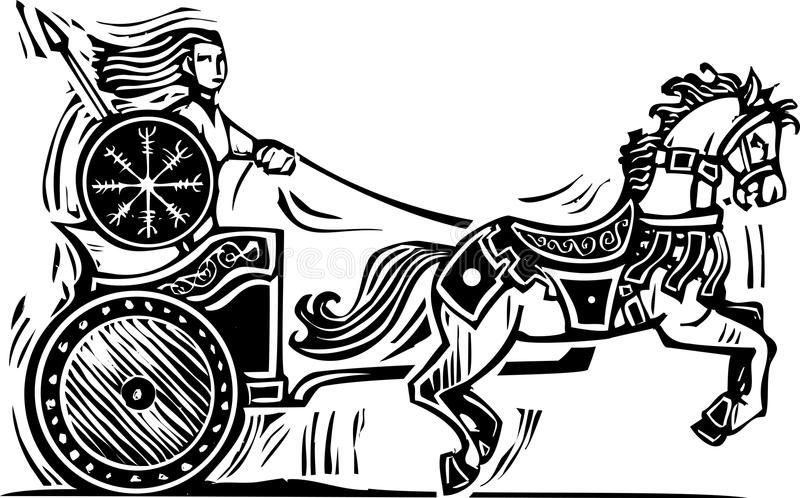 Brigid Chariot libre illustration