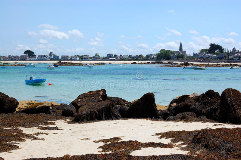 Brignogan Bay, Bretagne, France Royalty Free Stock Images