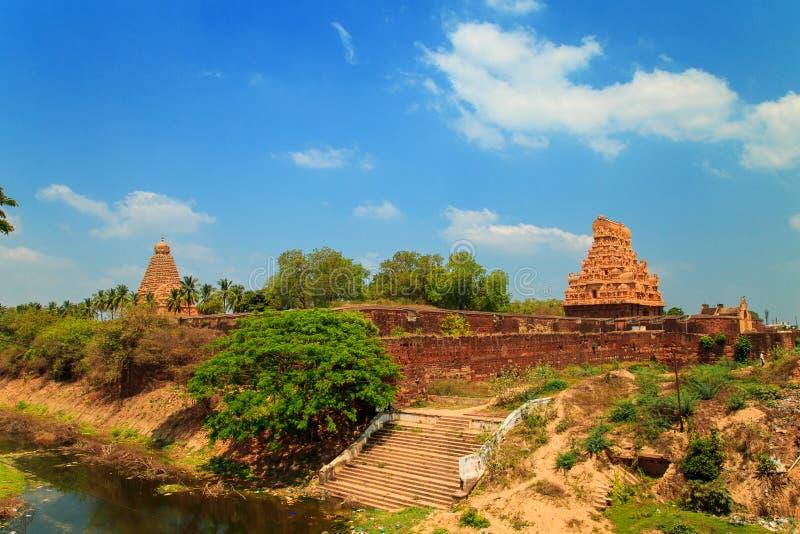Brihadeeswara tempel i Thanjavur, Tamil Nadu, Indien fotografering för bildbyråer