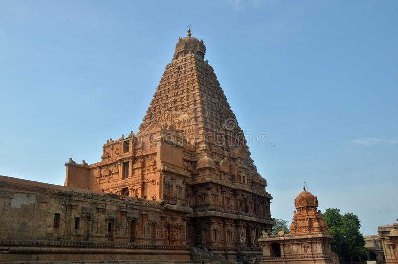 Brihadeeswara tempel, Thanjavur arkivfoto