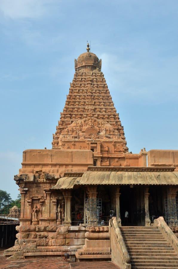 Brihadeeswara tempel, Thanjavur arkivbilder