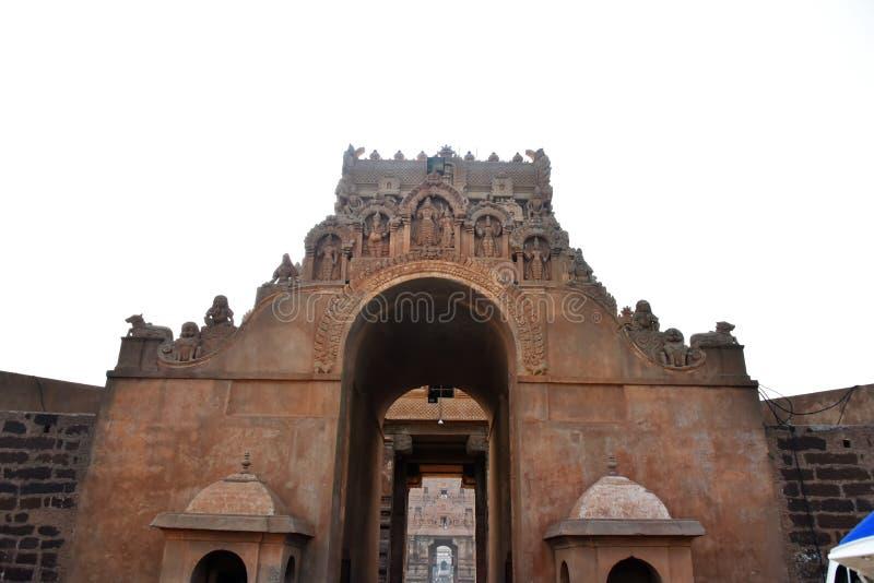 Brihadeeswara tempel, Thanjavur, Tamil Nadu royaltyfria bilder