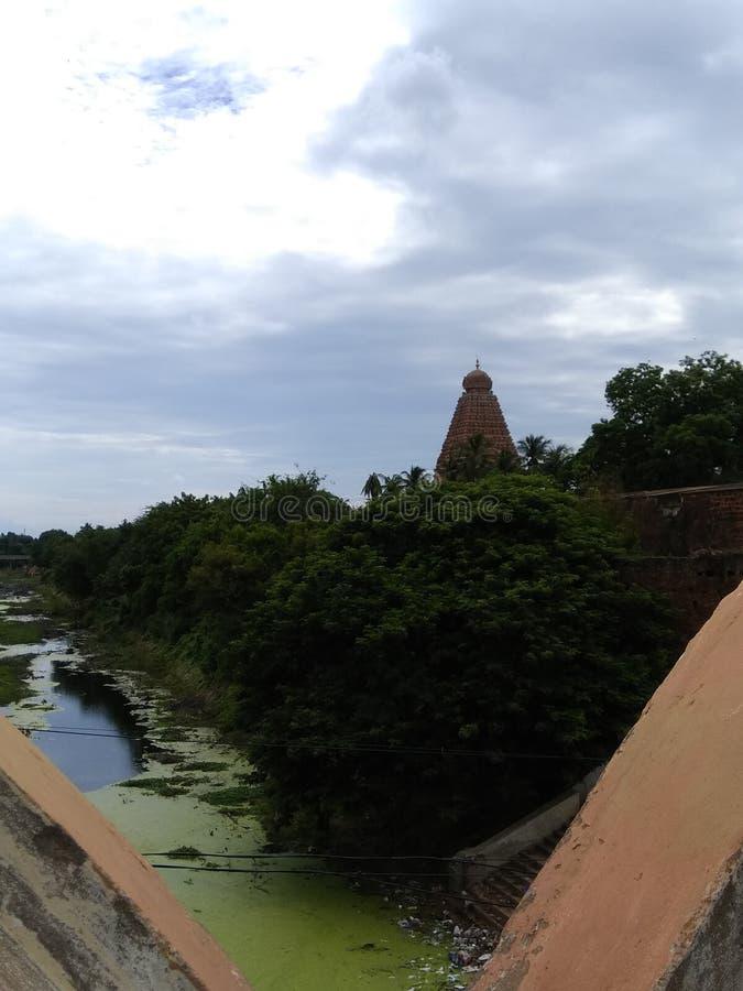 Brihadeeswarar-Tempel thanjavur Radscharadscha cholan lizenzfreie stockfotos