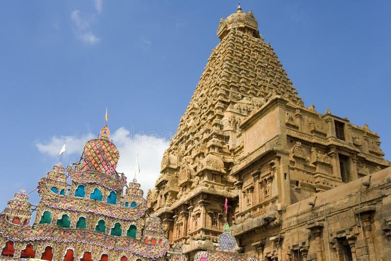 brihadishvara印度寺庙thanjavur 免版税库存图片