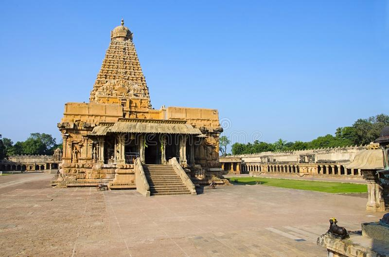 Brihadishvara Temple, Thanjavur, Tamil Nadu, India. Hindu temple dedicated to Lord Shiva. Brihadishvara Temple, Thanjavur. Hindu temple dedicated to Lord Shiva royalty free stock photography