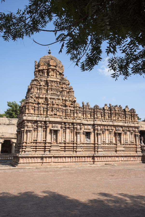 Brihadishvara Temple an UNESCO World Heritage Site known as the Great Living Chola Temples, Thanjavur, Tamil Nadu, India. Brihadishvara Temple an UNESCO World royalty free stock photography