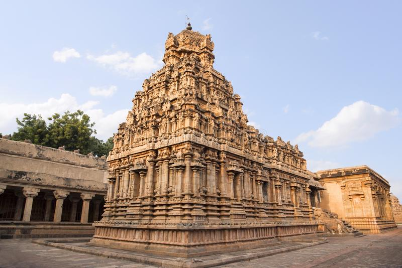 Brihadishvara Temple an UNESCO World Heritage Site known as the Great Living Chola Temples, Thanjavur, Tamil Nadu, India. Brihadishvara Temple an UNESCO World stock image