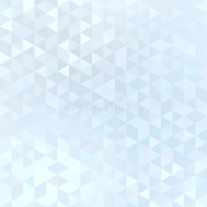Briht天蓝色的瓦片淡色马赛克背景 淡光几何样式 皇族释放例证