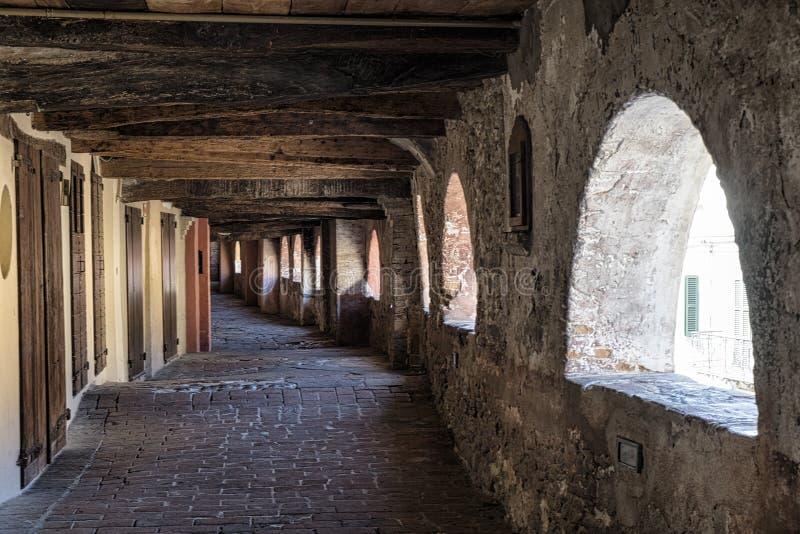 Briighella Ravenna, Italia: via il degli Asini immagine stock