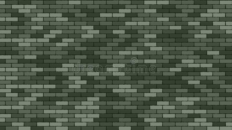 Brik Wall Vector Grüner Stein Brik Wall Buidling Militäram 23. februar Brik Wall Background Soldat mit einer Gewehr und seinem Ko lizenzfreie abbildung
