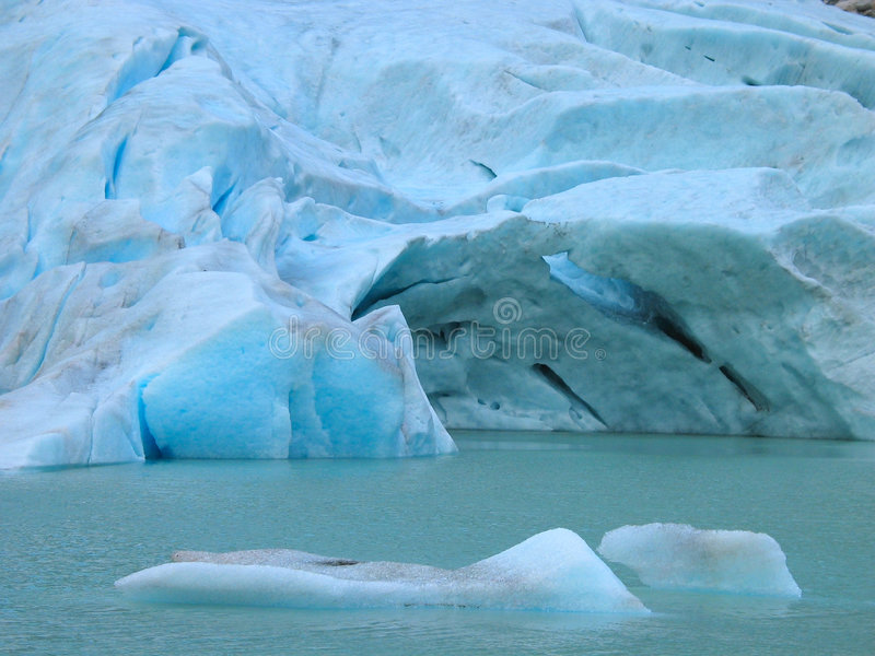 Briksdal glacier stock photography