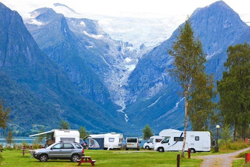 Briksdal glacier stock image