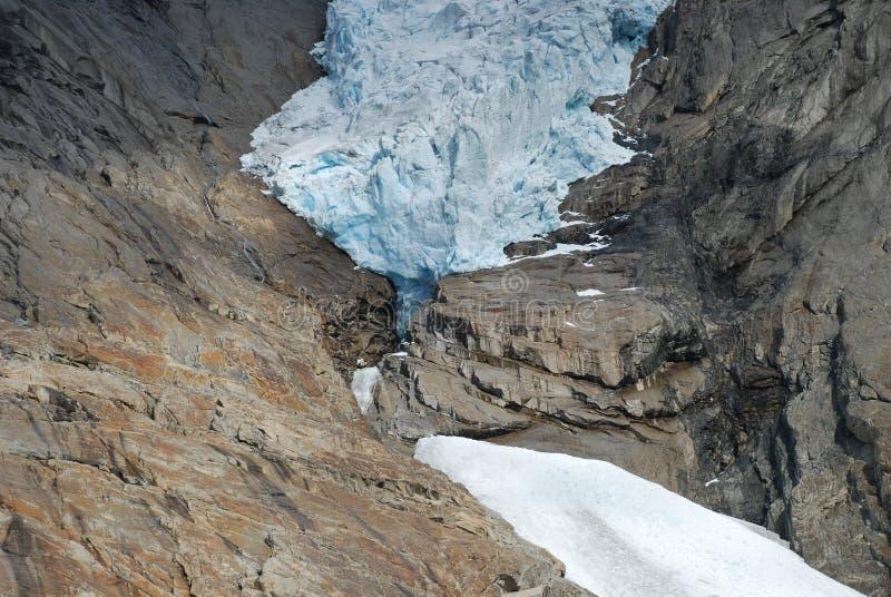 Briksdalsbreen glaciär i Jostedalsbreen, Norge arkivbild