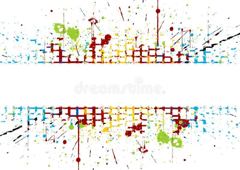 Brilhante abstrato colorido listrado chapinhar colorido ilustração do vetor