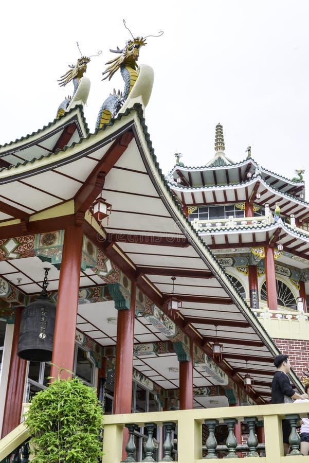 Brilhante do dia de Cebu Filipinas do templo da taoista colorido bonito fotos de stock royalty free