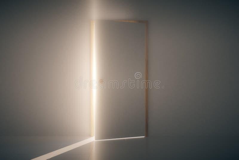 Brilho claro através do estar aberto ilustração stock