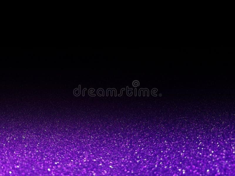 Brilho claro de brilho roxo de Bokeh em brilhante grande do luxo efervescente preto, roxo para os cosméticos do fundo que anuncia imagem de stock royalty free