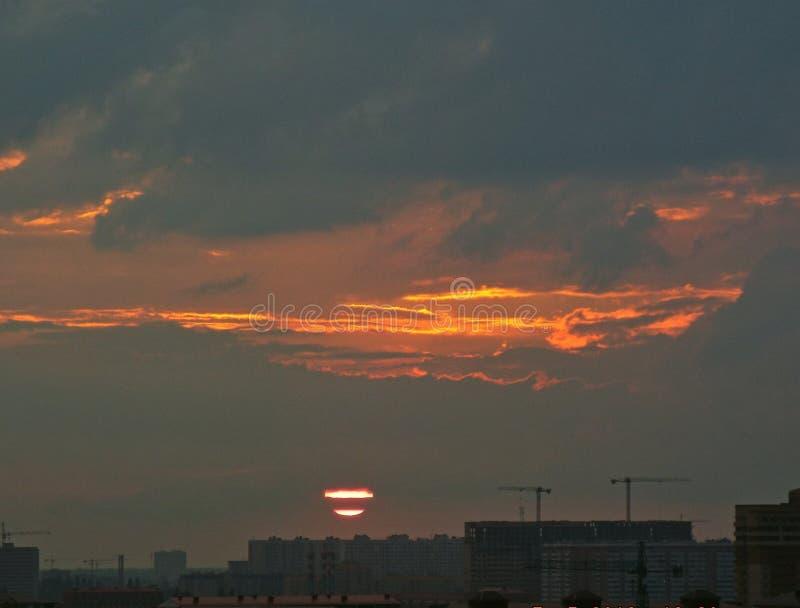 Brilho claro do sol alaranjado fotografia de stock royalty free