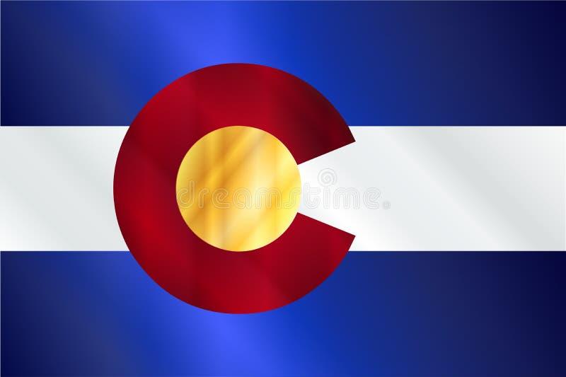 Brilho da bandeira do estado de Colorado ilustração do vetor