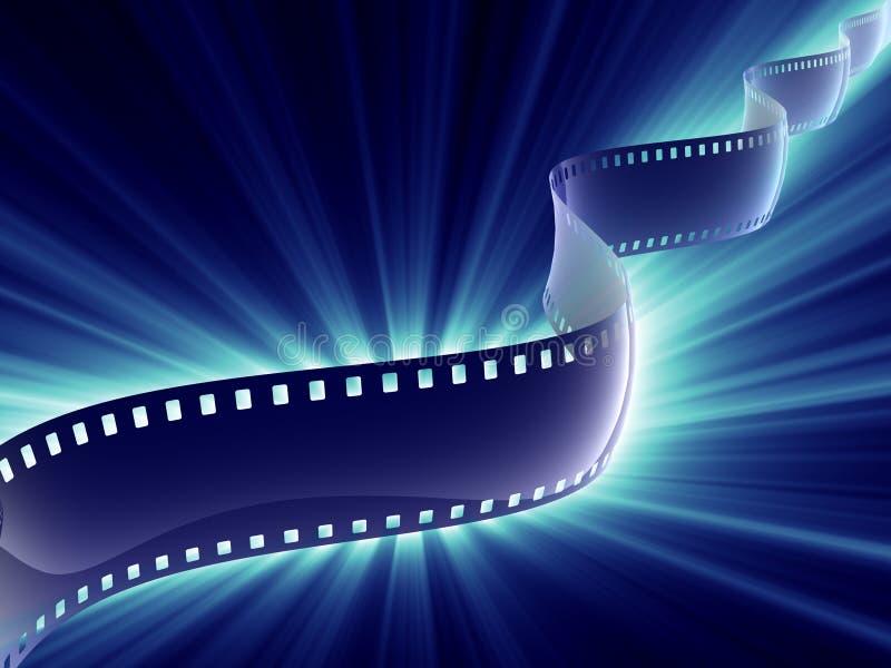 Brilho da tira da película ilustração stock
