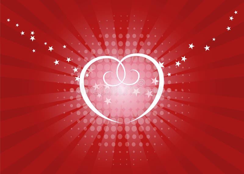 Brilho do amor ilustração do vetor