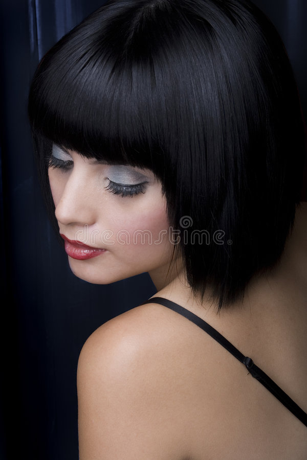 Brilho do cabelo fotografia de stock royalty free