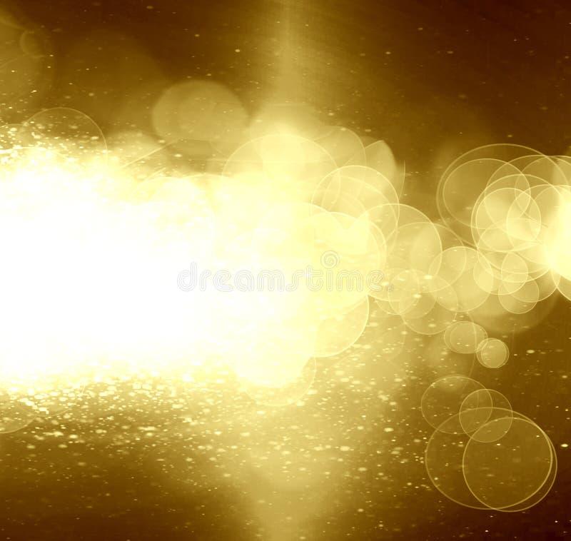 Brilho do ouro ilustração stock
