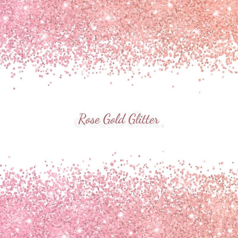 Brilho do ouro de Rosa com efeito da cor Vetor ilustração stock