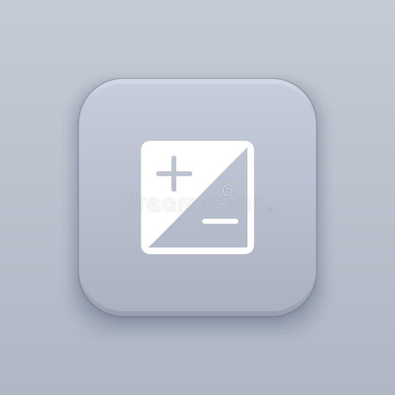 Brilho e botão do contraste, o melhor vetor ilustração stock