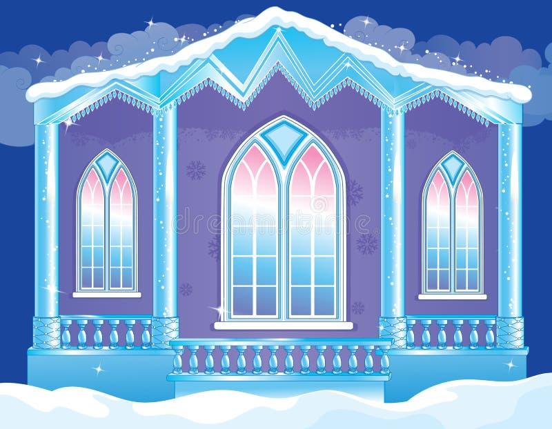 Briljant fasad av isslotten stock illustrationer