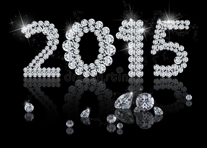 Briljant nytt år 2015 vektor illustrationer