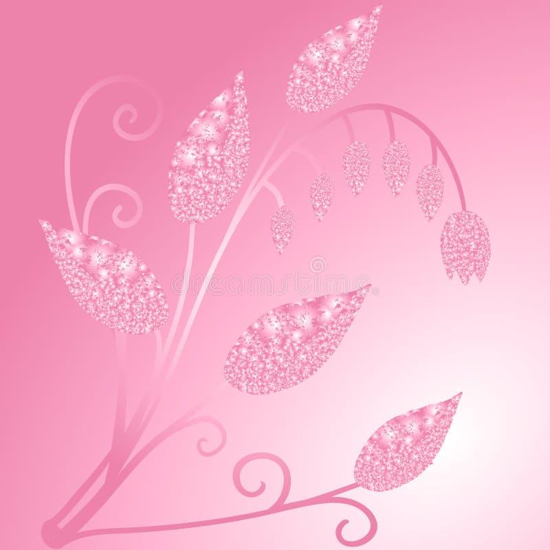 Briljant rosa flover vektor illustrationer