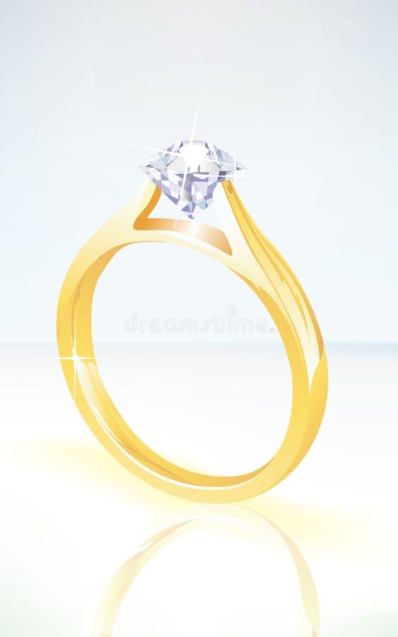 briljant yellow diamantkopplingsför guldcirkel royaltyfri illustrationer